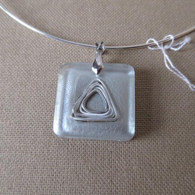 collier pendentif r sine fil aluminium peinture sp ciale carr bco005001 asacrea. Black Bedroom Furniture Sets. Home Design Ideas