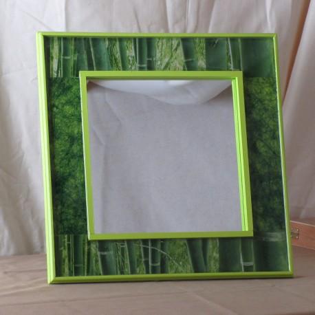 Miroir Bois Naturel Déco Résine Bambou (DMI001002)