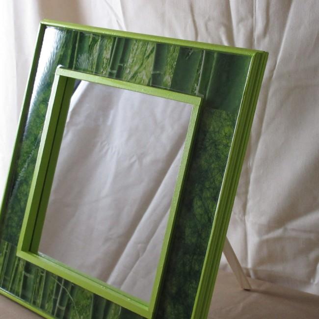 Miroir bois naturel d co r sine bambou dmi001002 asacrea for Miroir deco bois