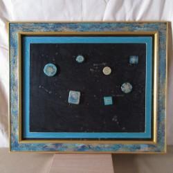 Pèle-mêle cadre chêne peinture acrylique, peinture à effets et résine DPM00001