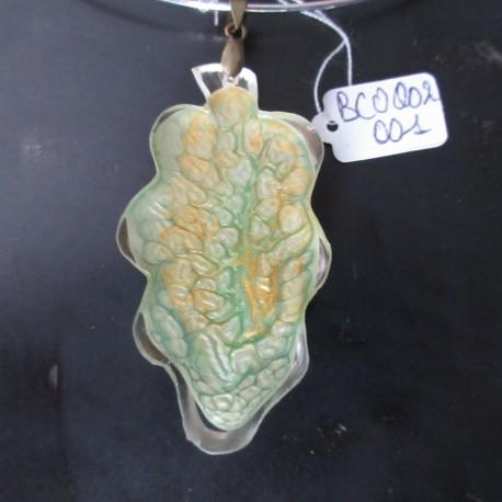 Collier pendentif feuille (BCO002001)