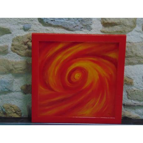 Tableau décoratif résine cadre bois naturel TAB002001