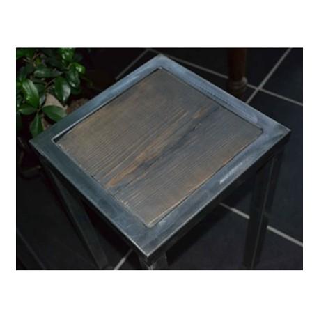 Tabourets bois acier industriels MTB001001